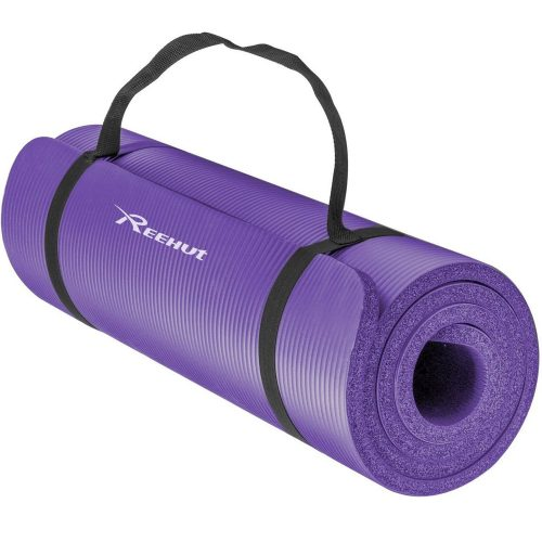 Reehut 1/2-Inch Extra Thick High Density NBR Exercise Yoga Mat for Pilates, Fitness & Workout w/ Carrying Strap
