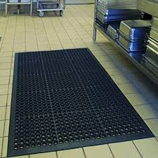 "Anti-Fatigue Rubber Floor Mats for Kitchen Bar, NEW Indoor Commercial Heavy Duty Floor Mat Black 36"" 60"" from Sallymall - Anti-Fatigue Mats"