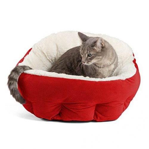 Best Friends by Sheri OrthoComfort Deep Dish Cuddler (Multiple Sizes) – Self-Warming Cat and Dog Bed Cushion for Joint-Relief and Improved Sleep – Machine Washable, Waterproof Bottom - Cat Beds