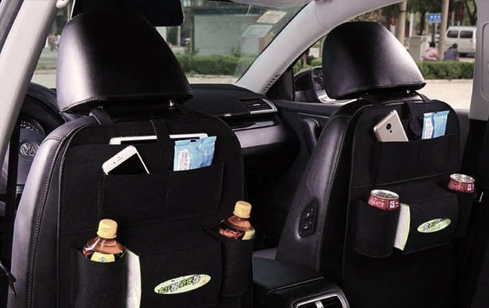 Tissue Box 9 Pockets- Car Trash Can Befano Car Backseat Organizer Foldable Table Tray PU Leather Seat Back Kick Mats Protectors Tablet Holder Beige, 1 Piece Car Organizers Storage Backseat