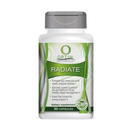 Clinically Proven Ingredients for Advanced Appetite Suppressant and Weight Management. Optim Metabolic Radiate for Increased Energy and to Curb Stress Induced Cravings (30 caps) - Appetite Suppressant