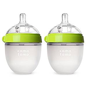 Comotomo Baby Bottle, Green, 5 Ounce, 2 Count - Baby Bottles