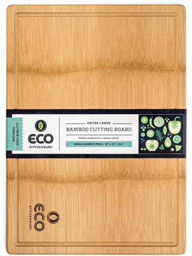 Eco Kitchenware Extra Large Single Piece Surface Bamboo Wood Cutting and Chopping Board - Bamboo Cutting Boards