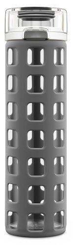 Ello Syndicate BPA-Free Glass Water Bottle with Flip Lid, 20-Ounce - BPA-free Water Bottles