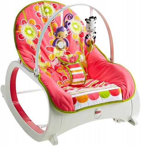 Fisher-Price Infant-to-Toddler Rocker, Floral Confetti - Baby Bouncer
