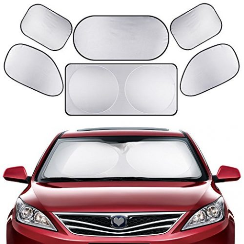 GHB Full Car Sun Shade Folding Silvering Reflective Car Window Sun Shade Visor Shield Cover - Car Window Sunshades