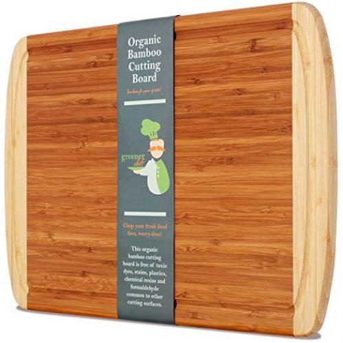 Greener Chef Extra Large Organic Bamboo Cutting Board - Bamboo Cutting Boards