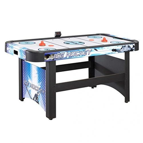 Hathaway Face-Off 5-Foot Air Hockey Game Table for Family Game Rooms with Electronic Scoring, Free Pucks & Strikers - Air Hockey Tables
