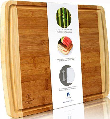 Indigo True Company Bamboo Cutting Board - Bamboo Cutting Boards