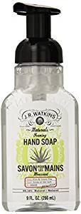 J.R. Watkins Foaming Hand Soap, Aloe & Green Tea, 9 ounces (Pack of 6) - Hand Soaps