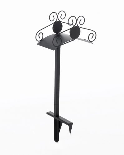 Liberty Garden Products 645-KD Decorative Metal Garden Hose Stand, Holds 125-Feet of 5/8-Inch Hose - Black - Garden Hose Stands