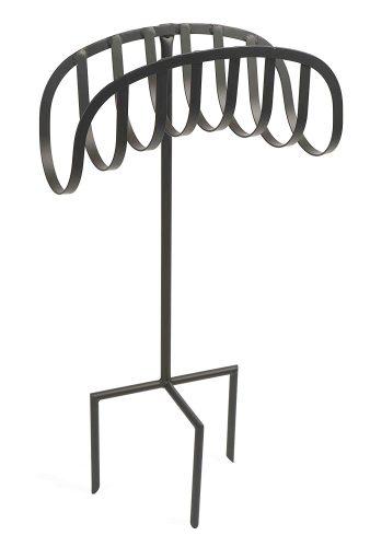 Liberty Garden Products 647 Manger Style Metal Garden Hose Stand, Holds 125-Feet of 5/8-Inch Hose - Black - Garden Hose Stands