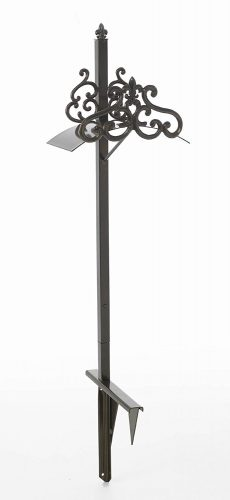 Liberty Garden Products 649-KD Hyde Park Decorative Metal Garden Hose Stand, Holds 125-Feet of 5/8-Inch Hose – Bronze - Garden Hose Stands
