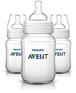 Philips Avent Anti-colic Baby Bottles Clear, 9oz 3 Piece - Baby Bottles