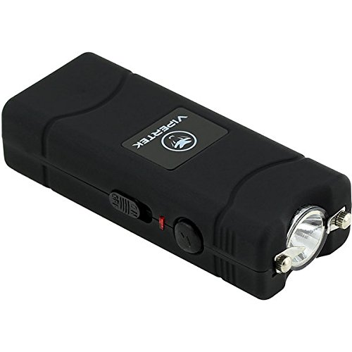 VIPERTEK VTS-881 - 7 Billion Micro Stun Gun - Rechargeable with LED Flashlight, Black - stun guns