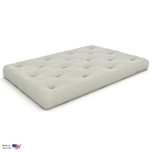 Extra Thick Premium 10-Inch Twin XL Futon Mattress, Ivory Twill - Made in USA - Futon Mattress