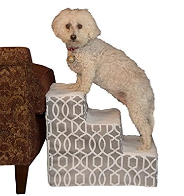 Pet Gear Soft Step Pet Stairs for Pets up to 50 lbs., Trellis Print - Pet Stairs