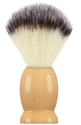 Bassion Hand Crafted 100% Pure Badger Shaving Brush with Hard Wood Handle, Men's Luxury Professional Hair Salon Tool, Engineered to Deliver the Best Shave of Your Life - Shaving Brush