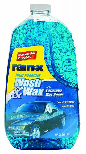 Rain-X 5077557 Wash and Wax with Carnauba Wax Beads - 64 fl oz.