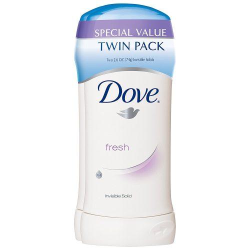 Dove Antiperspirant Deodorant, Fresh 2.6 oz, Twin Pack - Deodorant for Women