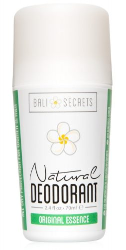 Bali Secrets Natural Deodorant – Organic & Vegan – For Women & Men – All Day Fresh – Strong & Reliable Protection – 2.5 fl.oz/75ml [Scent: Original Essence] - Deodorant for Women