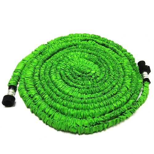 Expandable Garden Hose, GenLed 75ft Strongest Expanding Garden Hose on the Market with Triple Layer Latex Core & Latest Improved Extra Strength Fabric Protection for All Your Watering Needs (Green) - Garden Hoses