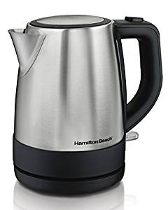 Hamilton Beach 40998 1 L Stainless Steel Electric Kettle, Silver- Electric kettles