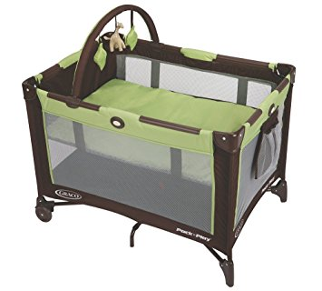Graco Pack 'n Play On the Go Playard, Go Green - Bassinet
