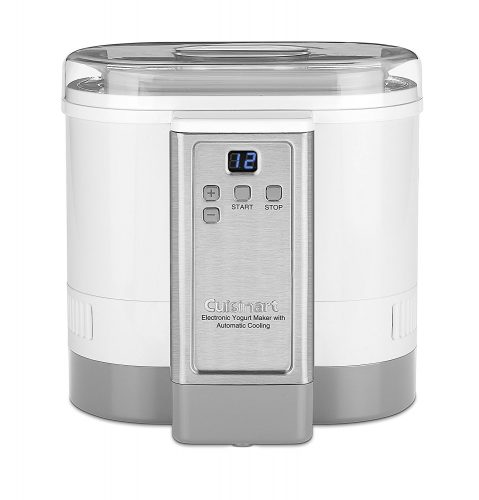 Cuisinart CYM-100 Electronic Yogurt Maker with Automatic Cooling, 3.12lb Jar capacity, (1.5L) - yogurt maker