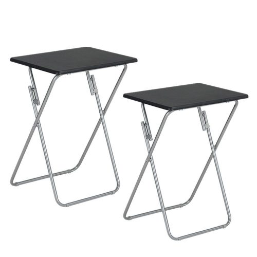 Aingoo 2 Pack TV Trays Snack Table Folding Laptop Tray Black