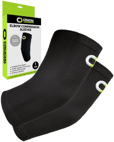 10. Elbow Brace Compression Sleeve (1 Pair) – Instant Support for Tennis Elbow.