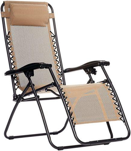 AmazonBasics Zero Gravity Chair - Beige - Zero Gravity Chairs