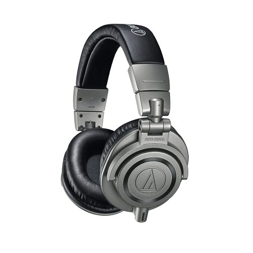 Audio-Technica ATH-M50x Professional Studio Monitor Headphones, Gun Metal - studio headphones