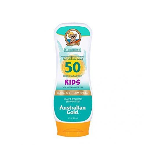 Australian Gold Kids SPF 50 Lotion Sunscreen, Hypoallergenic Formula, 8 Fl Oz - Sunscreen For Kids