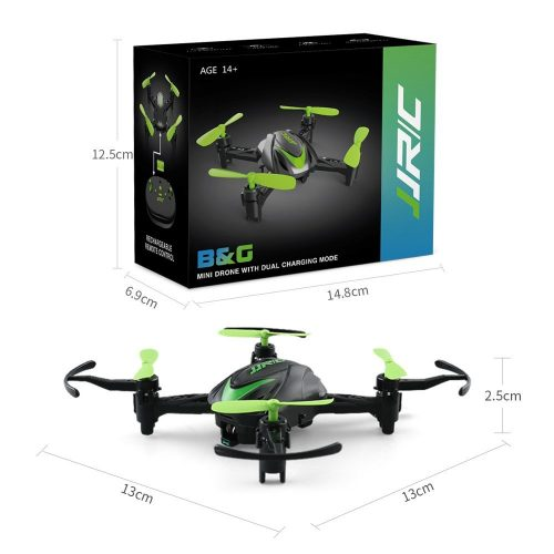 BTG JJRC H48 Mini Pocket Drone 3D Flips and Rolls 2.4Ghz 4CH 6-Axis Gyro RC Nano Quadcopter Palm Size Ideal for Beginners (Green) - smart nano drones