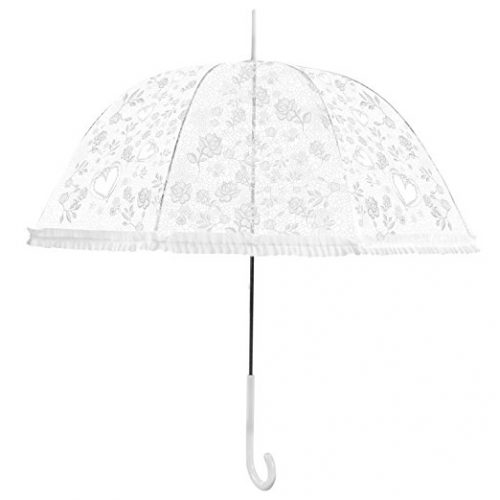 Becko Stick Clear Canopy Bubble Transparent Dome Shape Princess Style Rain Umbrella