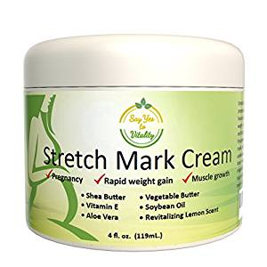 Best Stretch Mark Cream – For Prevention and Removal of Old or New Marks – Stretch Mark Removal Cream for Men or Pregnant Women – Contains Vitamin E, Aloe Vera + Shea Butter to Fade Stretch Marks - Stretch Mark Removal Creams