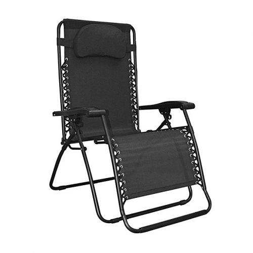 Caravan Sports Infinity Oversized Zero Gravity Chair, Black - Zero Gravity Chairs