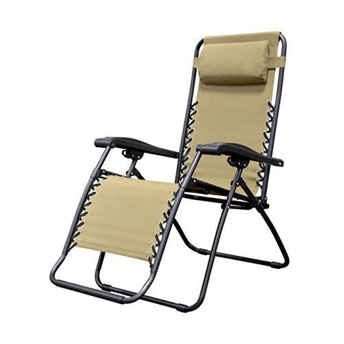 Caravan Sports Infinity Zero Gravity Chair, Beige - Zero Gravity Chairs