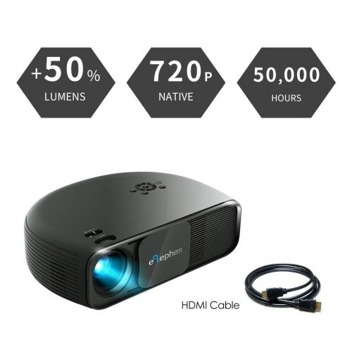 ELEPHAS 1080P HD LED Movie Projector - Gaming projectors