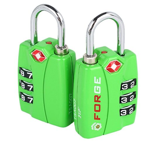 Forge TSA Locks 2 Packs - Open Alert Indicator, Easy Read Dials, Alloy Body