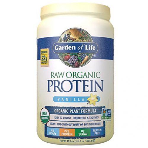 Garden Of Life Sports Organic Plant-Based Protein - BCAA Amino Acid Protein Powder, Vanilla 28.4oz (1lb 12oz / 806g) Powder - Organic Protein Powders