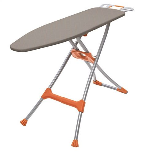 "Homz Durabilt DX1500 Premium Steel Top Ironing Board with Wide Leg Stability, Adjustable up to 39.5"" - Ironing Boards"