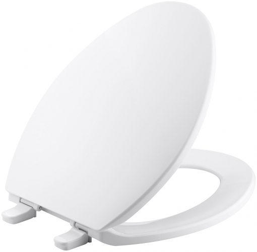 Kohler K-4774-0 Brevia with Quick-Release Hinges Elongated Toilet Seat, White - toilet seats