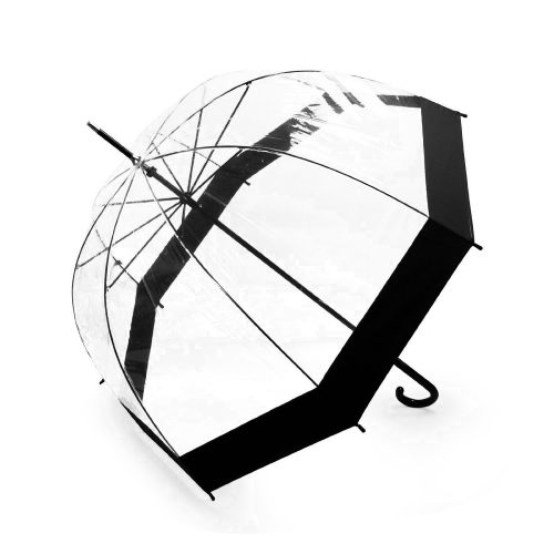 Lavievert Bubble Umbrella Birdcage Clear Umbrella with Black border