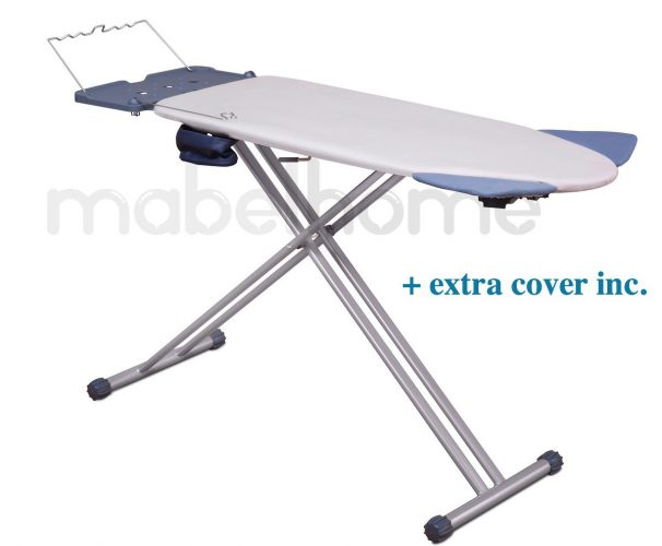 Mabel Home Extra-Wide ironing Pro Board with Shoulder Wing Folding, 8 Feature, with + Extra Cover - Ironing Boards