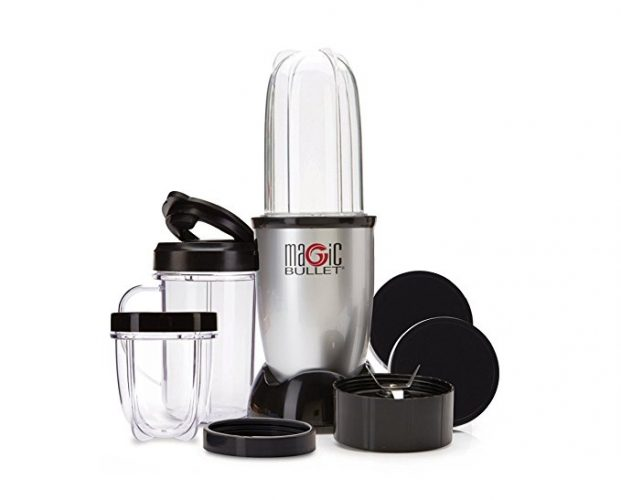 Magic Bullet Blender, Small, Silver, 11 Piece Set - Smoothie Blenders