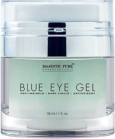Majestic Pure Blue Eye Gel, Potent Anti Wrinkle and Dark Circle Eye Cream Formula for Skin Tone and Resilience, 1.0 fl. Oz - Eye Creams For Women