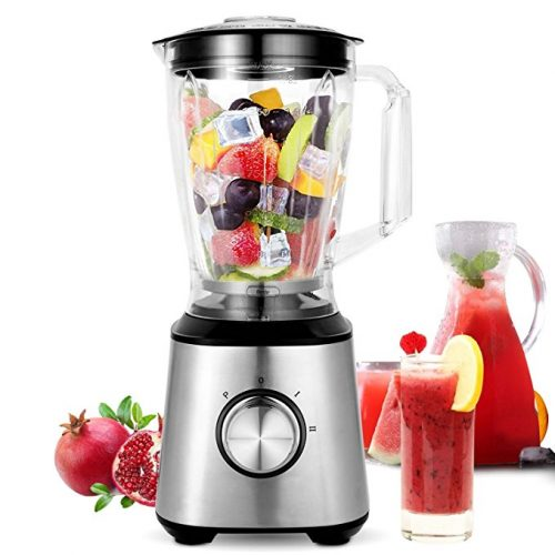 Meykey Smoothie Blenders, Countertop Blender 800W for Shakes and Smoothies with BPA Free Blender Jar 2-Speed Control,1.5l - Smoothie Blenders