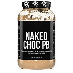 NAKED CHOC PB - Premium Organic Cacao and Powdered PB - 2lb Bulk - Organic Protein Powders
